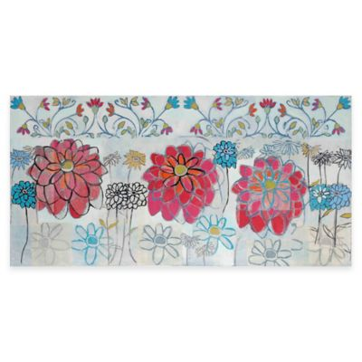 Marmont Hill Pink Zinnia 60-Inch x 30-Inch Canvas Wall Art
