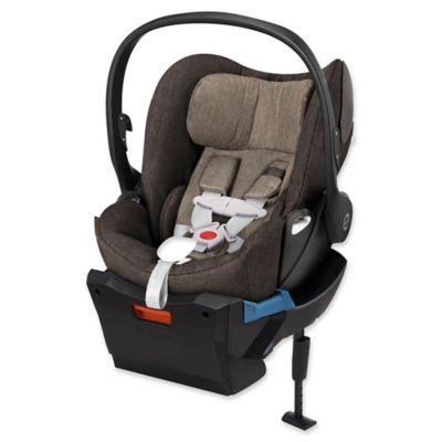 Cybex Cloud Q Plus Infant Car Seat with Load Leg Base in Desert Khaki Denim