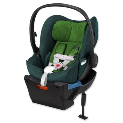 Cybex Cloud Q Plus Infant Car Seat with Load Leg Base in Green Hawaiian Denim