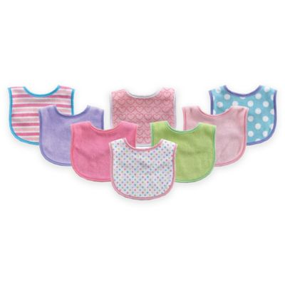 BabyVision® Luvable Friends® 8-Pack Drooler Bib Set in Pink