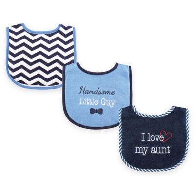 "BabyVision® Luvable Friends 3-Pack ""I Love My Aunt"" Drooler Bib Set in Blue"
