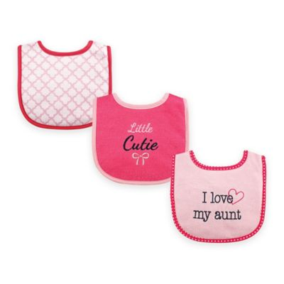 "BabyVision® Luvable Friends 3-Pack ""I Love My Aunt"" Drooler Bib Set in Pink"
