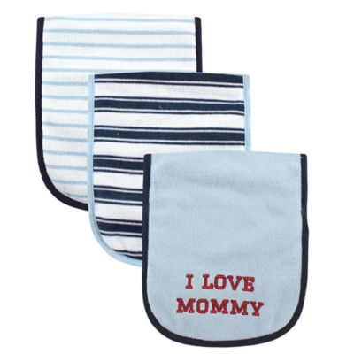 "BabyVision® Luvable Friends® 3-Pack ""I Love Mommy"" Burp Cloth Set"