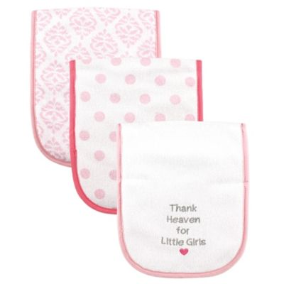 BabyVision® Luvable Friends® 3-Pack Thank Heaven Burp Cloths in Pink
