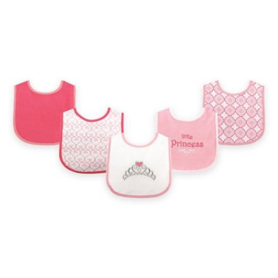BabyVision® Luvable Friends® 5-Pack Princess Drooler Bib Set in Pink