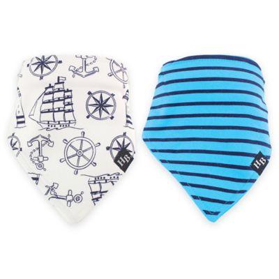 BabyVision® Hudson Baby® 2-Pack Nautical Bandana Bib Set