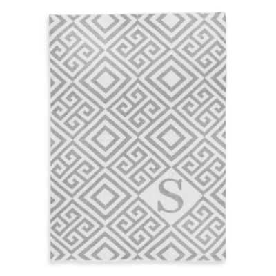 Sleeping Partners Tadpoles Ultra-Soft Knit Greek Key Blanket in Grey