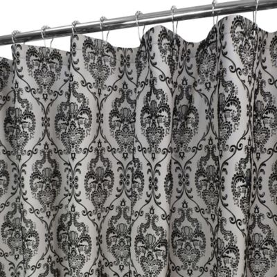 Lorraine Shower Curtain in Silver