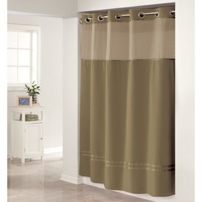 Buy Hookless Taupe Shower Curtain From Bed Bath Beyond