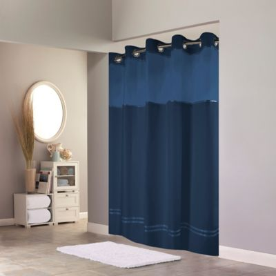 Hookless Escape Shower Curtain in Blue
