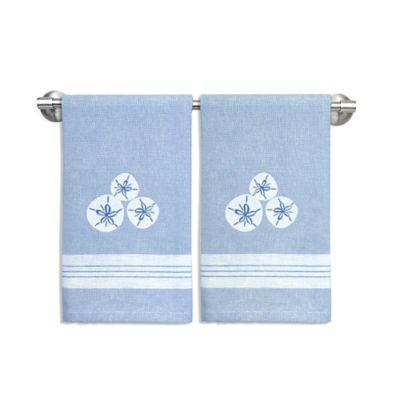 Sand Dollar Trio Coastal Guest Towels (Set of 2)