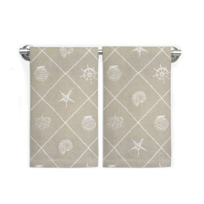 Coastal Rope Trim Guest Towels (Set of 2)
