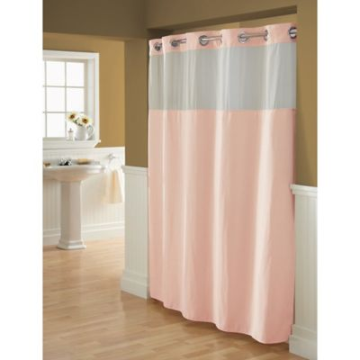 Hookless® Waffle 71-Inch x 74-Inch Fabric Shower Curtain in Blush