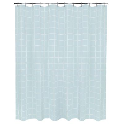 Durham Square Shower Curtain in French Blue