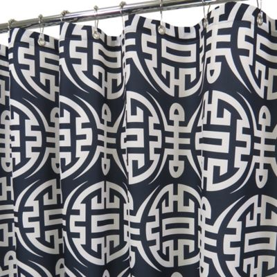 Eko Shower Curtain in Navy/White