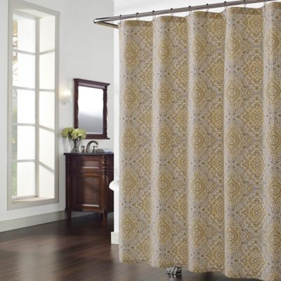 Hopewell Shower Curtain in Grey/Yellow