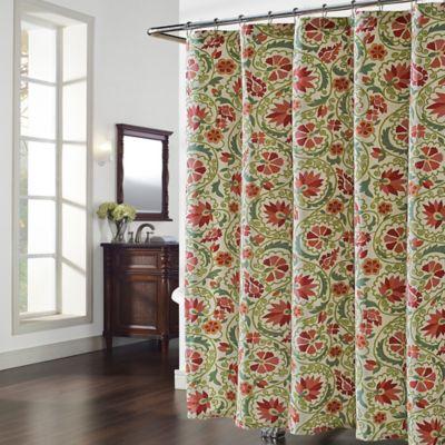 Marakesh Shower Curtain in Red