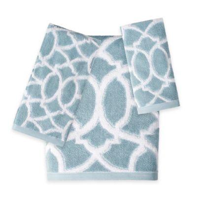 Watercolor Lattice Hand Towel