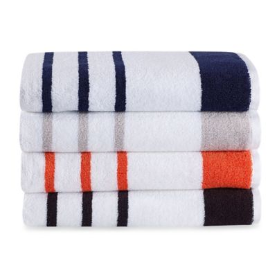 kate spade new york Harbour Stripe Bath Towel in Coral