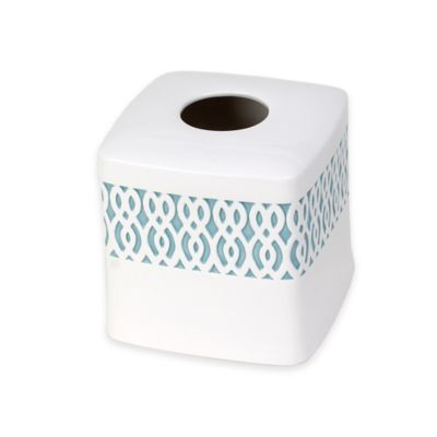 Watercolor Lattice Ceramic Boutique Tissue Box Cover