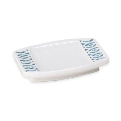 Watercolor Lattice Ceramic Soap Dish