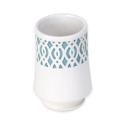 Watercolor Lattice Ceramic Tumbler