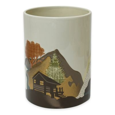 Mountainview Ceramic Wastebasket