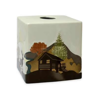 Mountainview Ceramic Boutique Tissue Box Cover