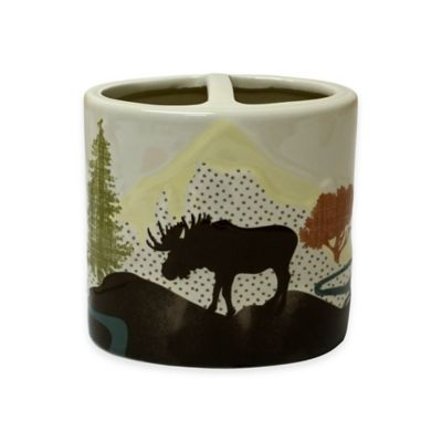 Mountainview Ceramic Toothbrush Holder