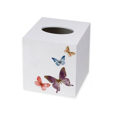 Rainbow Butterfly Boutique Tissue Box Cover