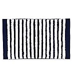 kate spade new York 21-Inch x 34-Inch Harbour Stripe Bath Rug in Navy