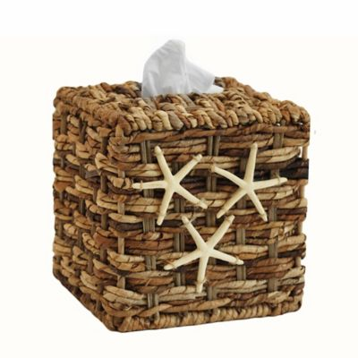 Starfish Woven Boutique Tissue Box Cover