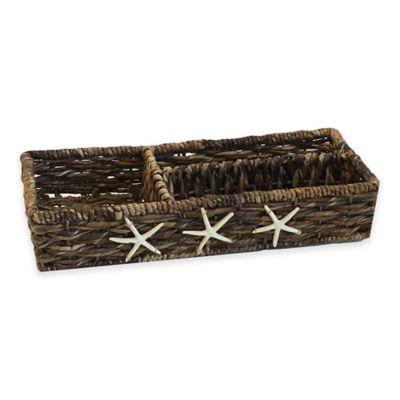 Starfish Woven Divided Tank Basket