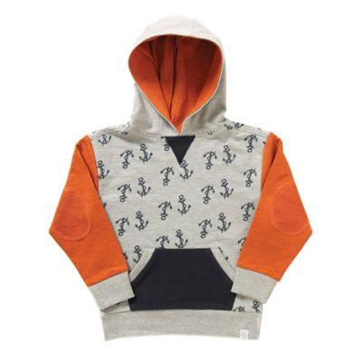 Rockin' Baby Size 2-3T Anchor Print Color Block Sweatshirt in Grey Heather/Orange/Black
