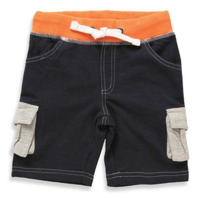Rockin' Baby Size 3-4T Boy's Nautical Color Block Short in Navy/Nautical Orange/Beige