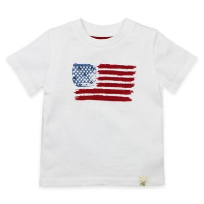 Burt's Bees Baby® Size 18M Organic Cotton American Flag T-Shirt in White