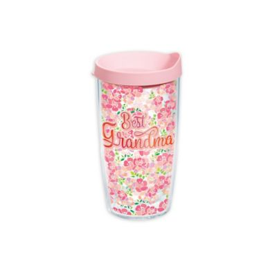 "Tervis® ""Best Grandma"" Pink Flower 16 oz. Wrap Tumbler with Lid"