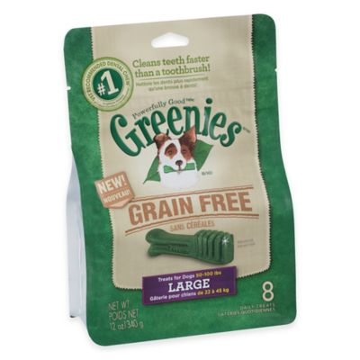 Greenies® Large 8-Count Grain-Free Canine Dental Chew Treats