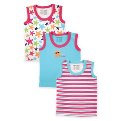 BabyVision® Luvable Friends Size 3-6M 3-Pack Starfish Tank Tops in Pink/Blue