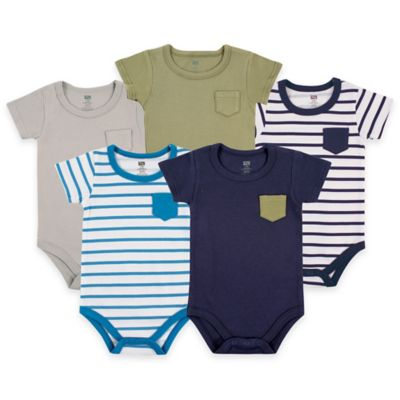 Blue Pocket Bodysuits