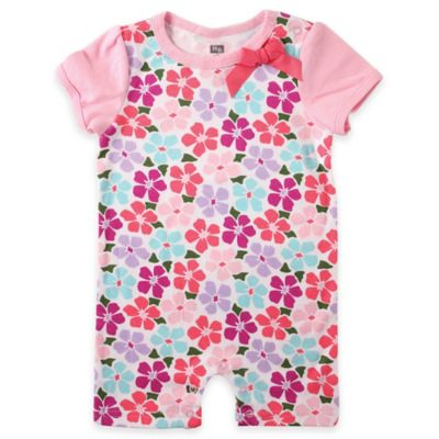 BabyVision® Hudson Baby® Size 0-3M Floral Contrast Sleeve Romper in Pink