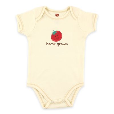 "BabyVision® Touched by Nature Size 3-6M ""Home Grown"" Tomato Organic Cotton Bodysuit"