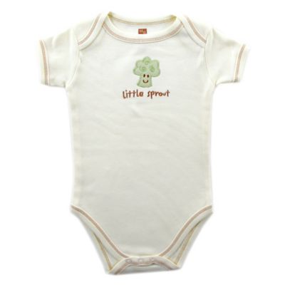 "BabyVision® Touched by Nature Size 9-12M ""Little Sprout"" Broccoli Organic Cotton Bodysuit"