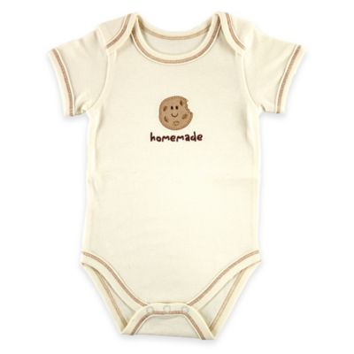 "BabyVision® Touched by Nature Size 0-3M ""Homemade"" Cookie Organic Cotton Bodysuit"