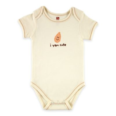 "BabyVision® Touched by Nature Size 9-12M ""I Yam Cute"" Organic Cotton Bodysuit"