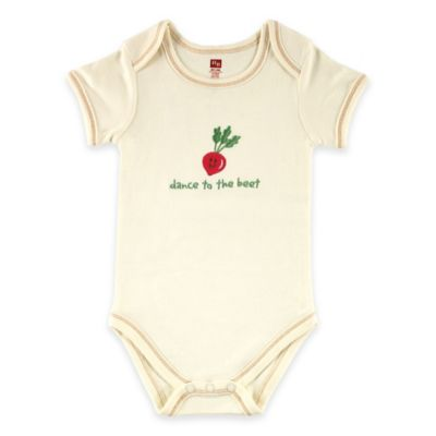 "BabyVision® Touched by Nature Size 0-3M ""Dance to the Beet"" Organic Cotton Bodysuit"
