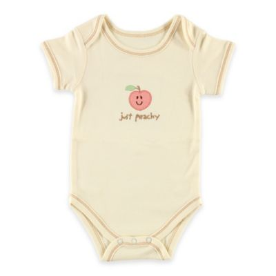 "BabyVision® Touched by Nature Size 3-6M ""Just Peachy"" Organic Cotton Bodysuit"