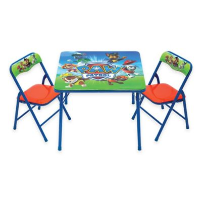 Paw Patrol 3-Piece Activity Table and Chairs Set