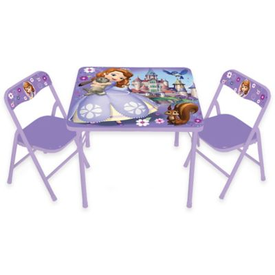Sofia the First 3-Piece Activity Table and Chairs