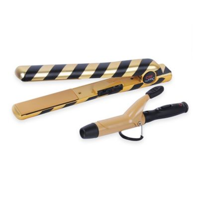 CHI Air 1-Inch Tourmaline Ceramic Flat Iron in Black/Gold